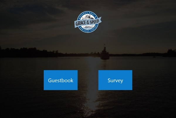 Guest Book survey kiosk
